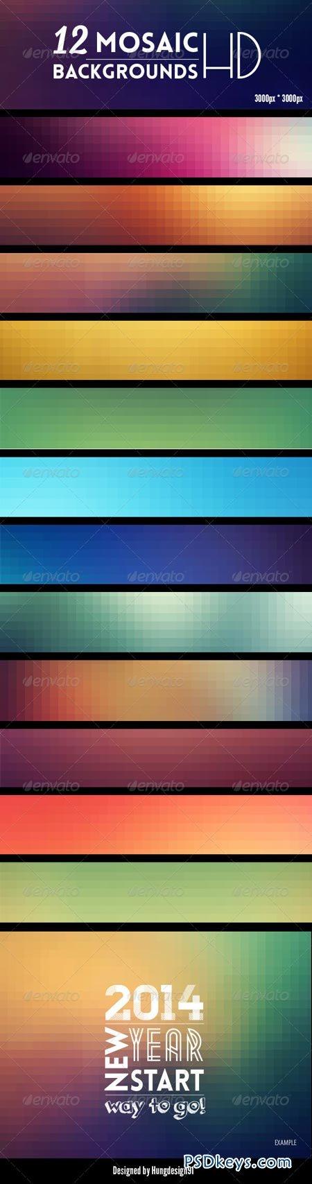 12 Mosaic Backgrounds HD 6865992