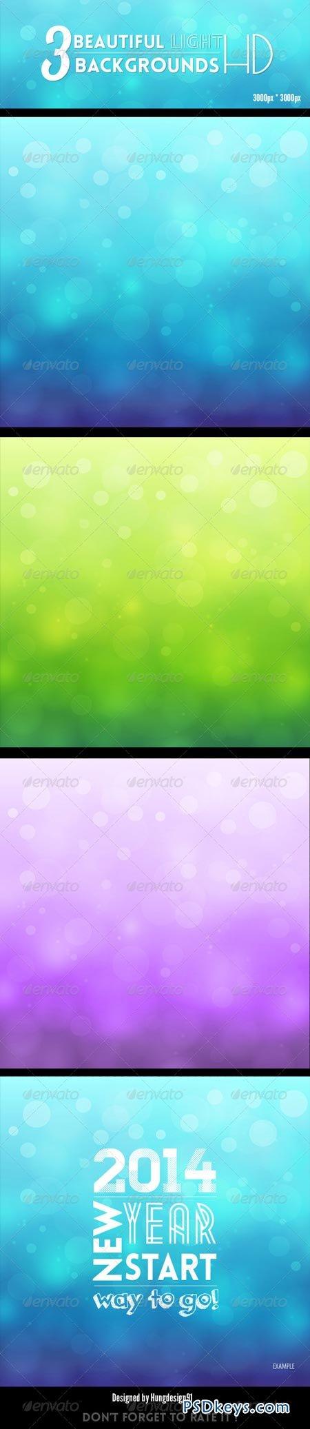 3 Amazing Beautiful Light Backgrounds HD 6901551