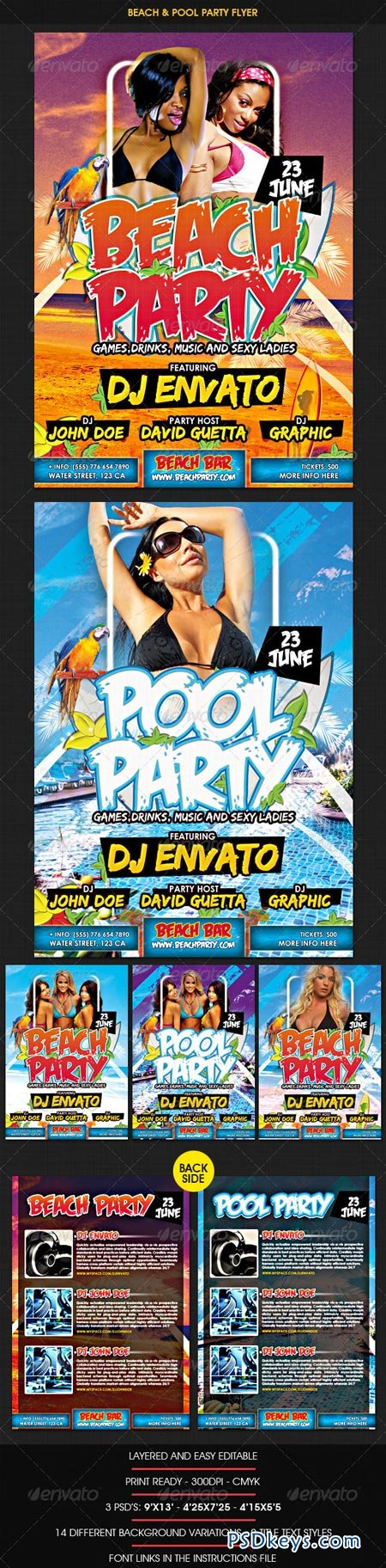 Beach & Pool Party Flyer 1929678