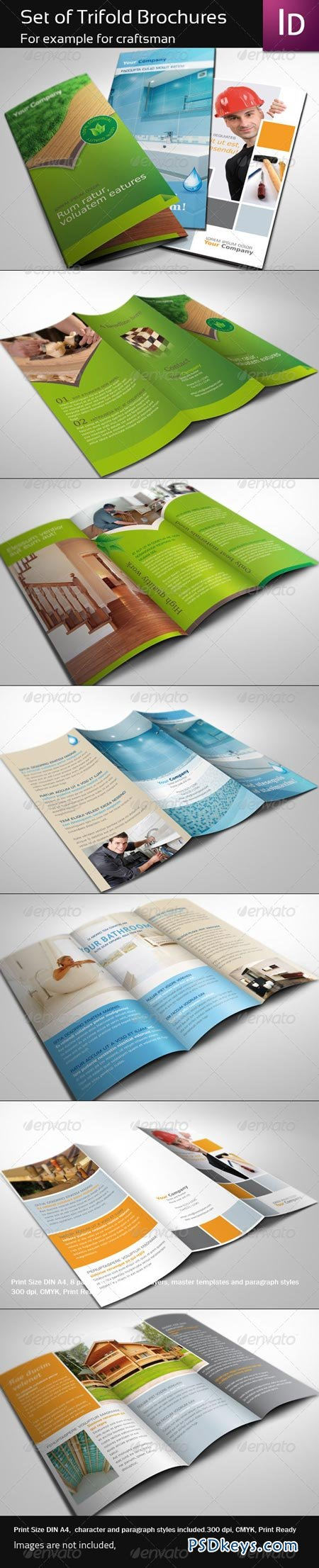 Set of Trifold Brochure 337187