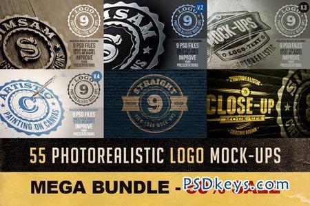 55 Photorealistic Logo Mock-ups 23188