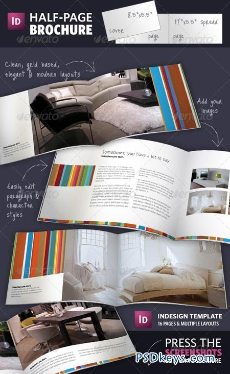 Half page brochure indesign template 141381 free for Half page brochure template