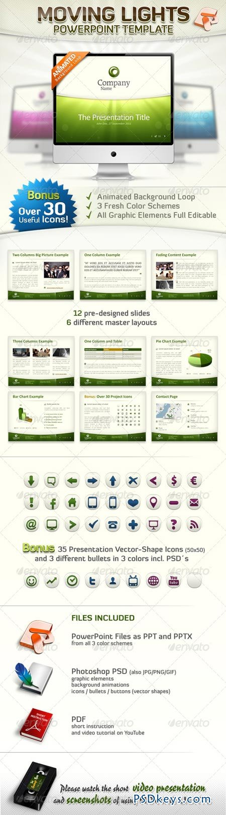 Moving Lights – PowerPoint Template 241010