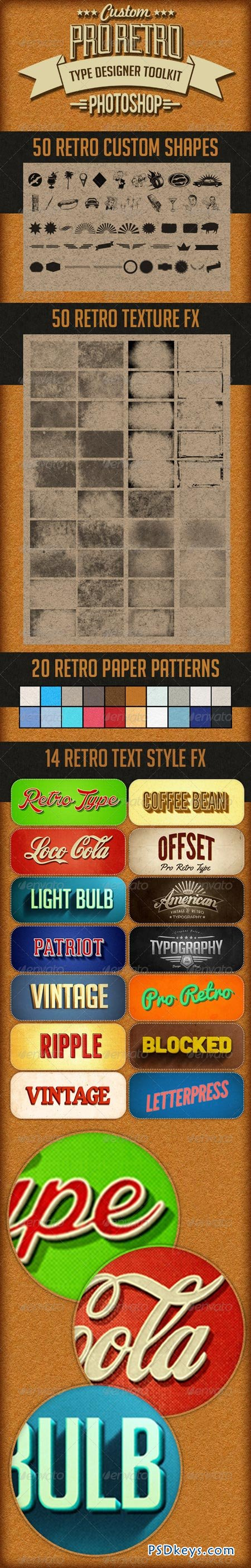 Pro Retro Text Designer Toolkit 8138859