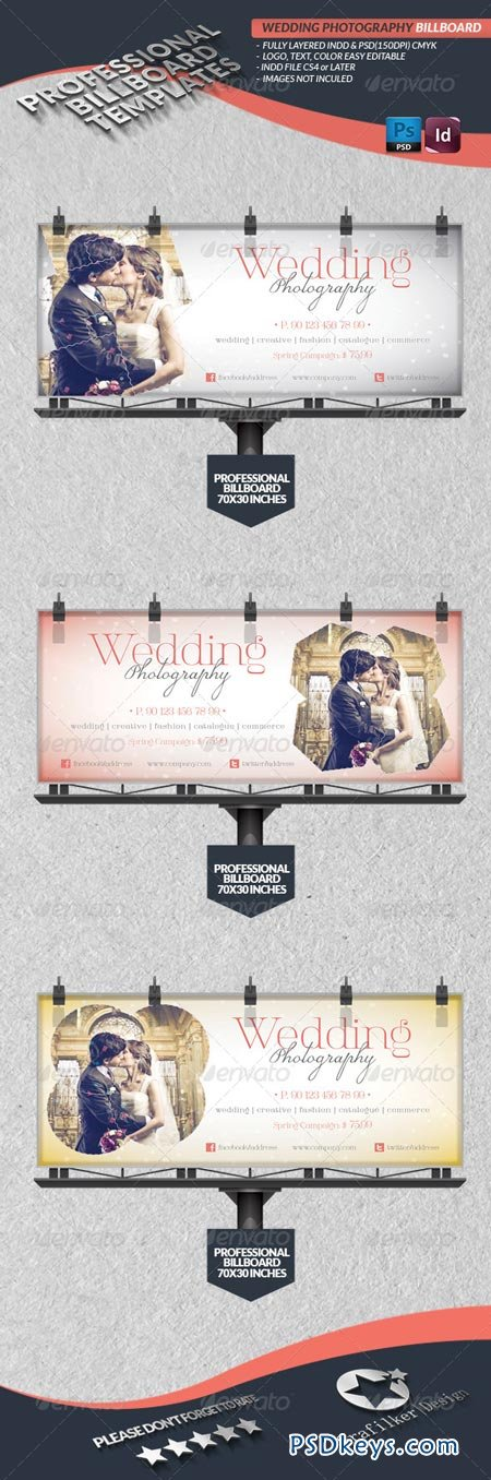 Wedding Photography Billboard Template 4320914