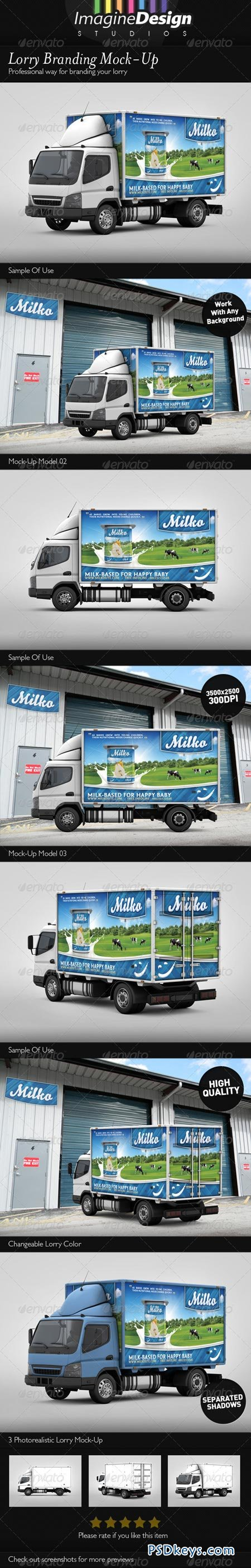 Lorry Branding Mock-Up 3315350
