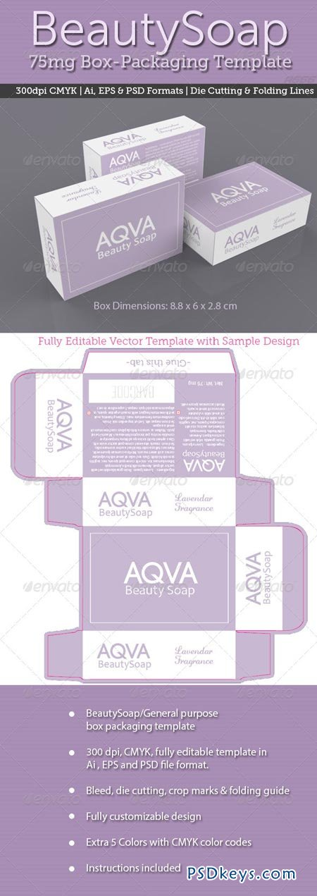 BeautySoap Box Packaging Template 2456790