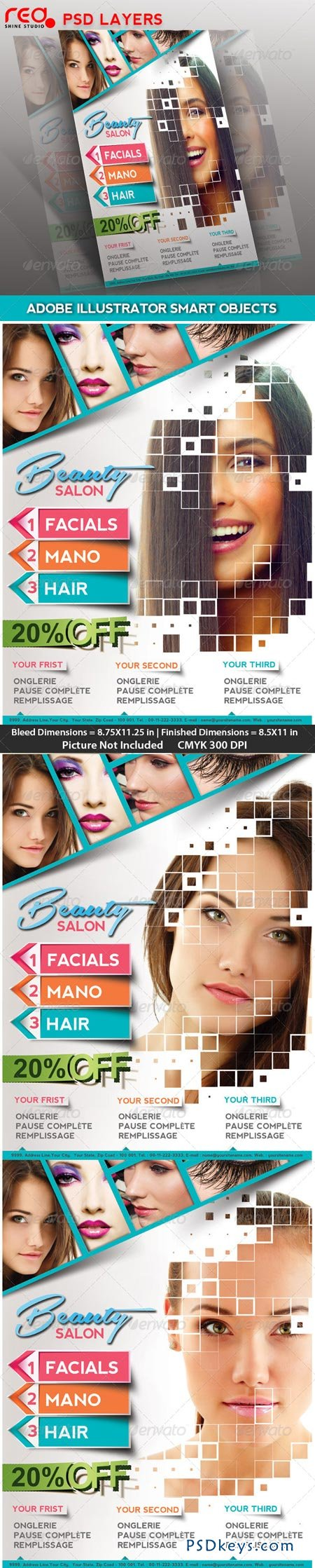 Beauty Salon Poster flyer & Magzine Cover 4455160
