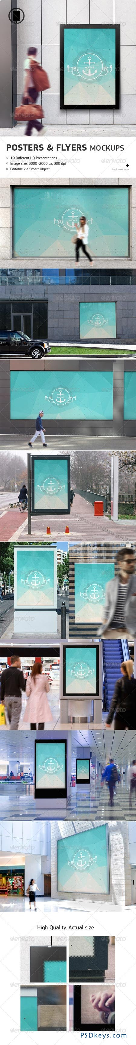 Flyer, Poster and Billboard Mockups 7858314