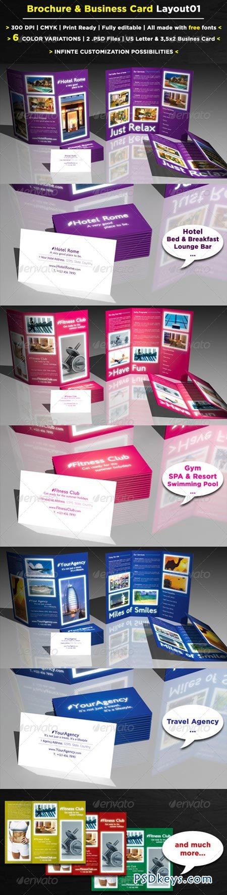 6 Pages Brochure + Business Card 157988