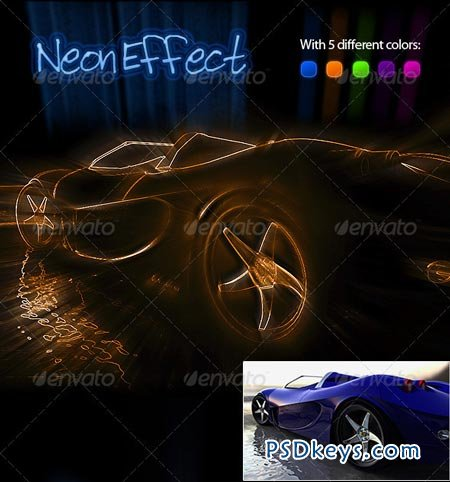 Neon Effect Photoshop Action 513060
