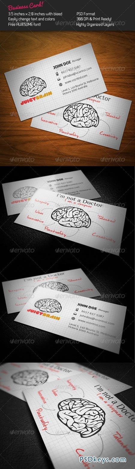 Juicy Brain Business Card 244066