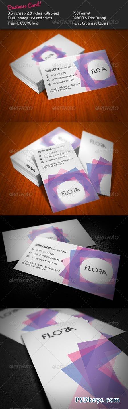Flora Business Card 243013