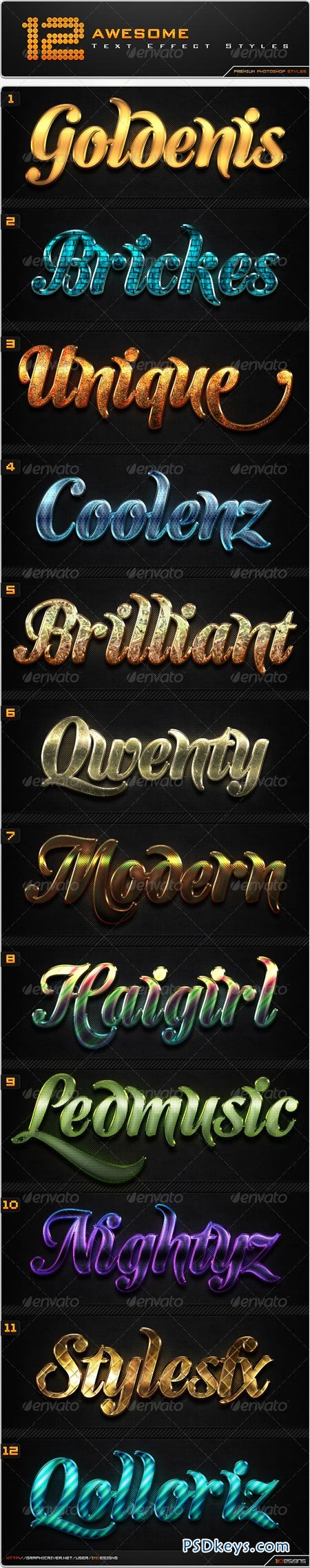 12 Awesome Text Effect Styles 8507767