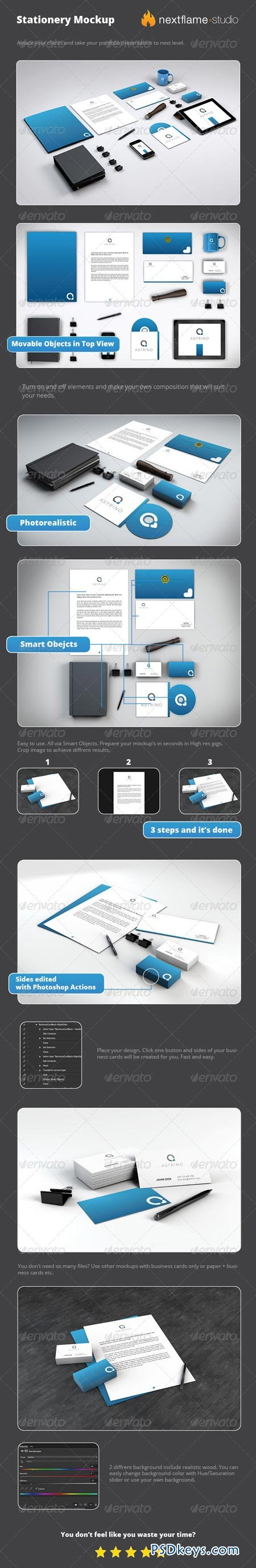 Stationery Mockup Pack - Smart Obejcts 2727487
