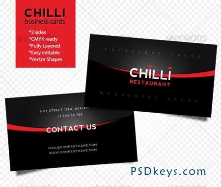 Chilli business cards 79145