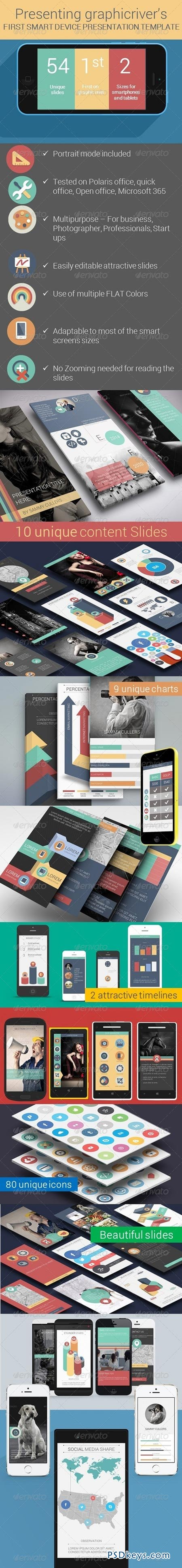 Flat Smart Device Presentation Template 8255219