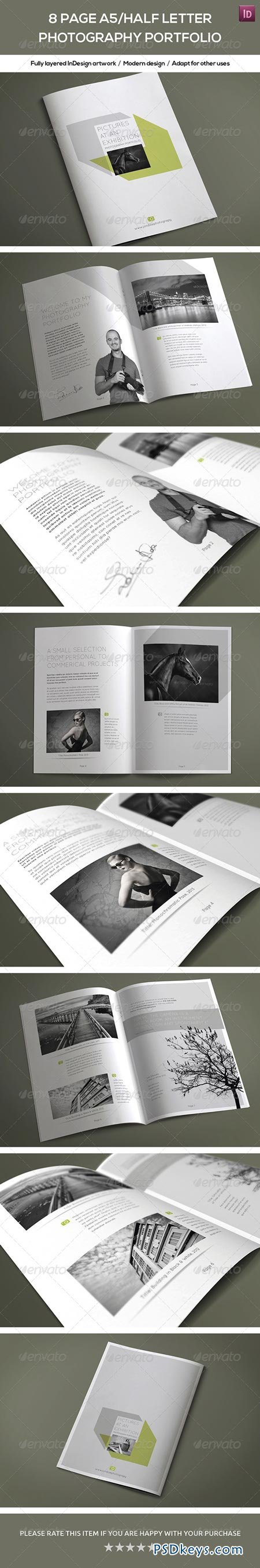 8 Page A5 Half Letter Photography Portfolio 7821445