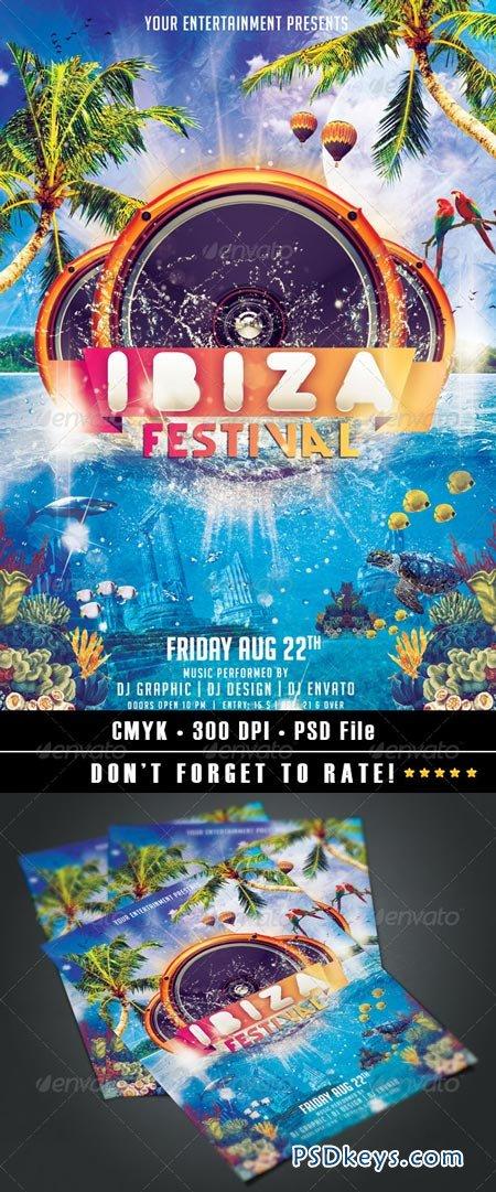 Ibiza Festival Flyer 8551374