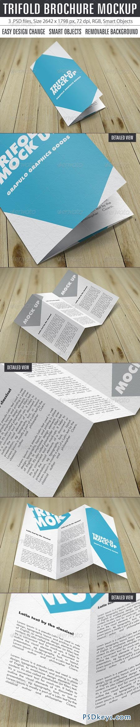 Trifold Brochure Mockup 8412401