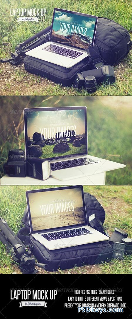 Laptop - Realistic Photographer Mock Up 8625606