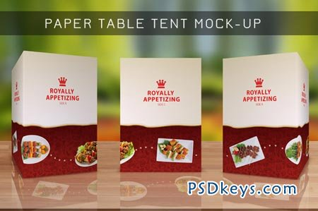 Table Tent Mock-up Template Vol.8 3868