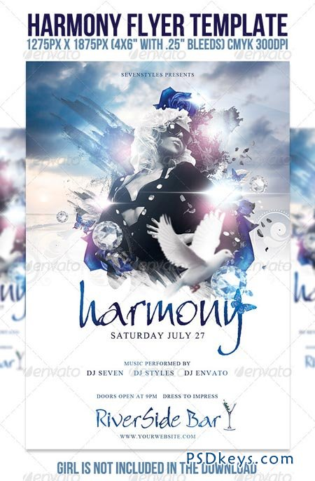 Harmony Flyer Template   Free Download Photoshop Vector
