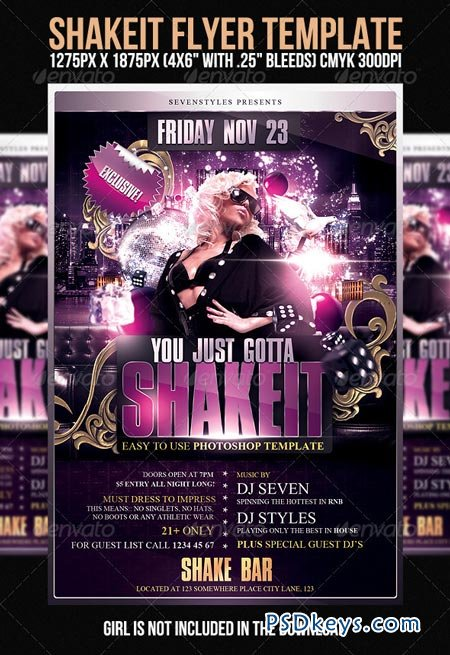 Shakeit Flyer Template 400677