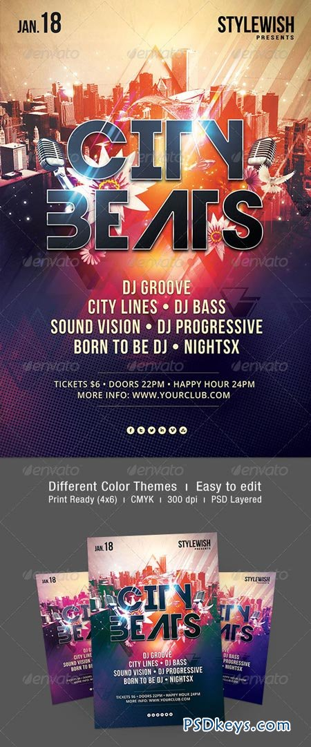 City Beats Flyer 6209431