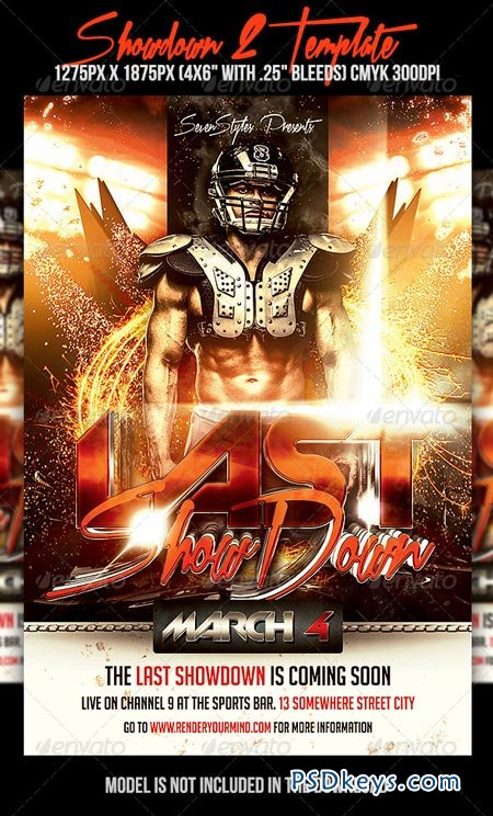 Showdown  Flyer Template   Free Download Photoshop Vector