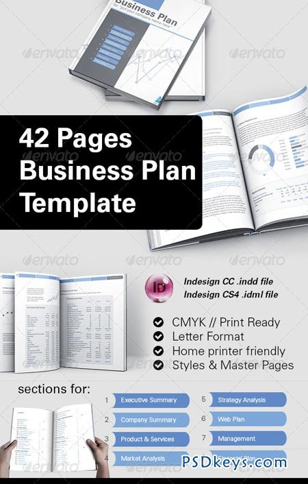 42 Pages Business Plan Template 8504828