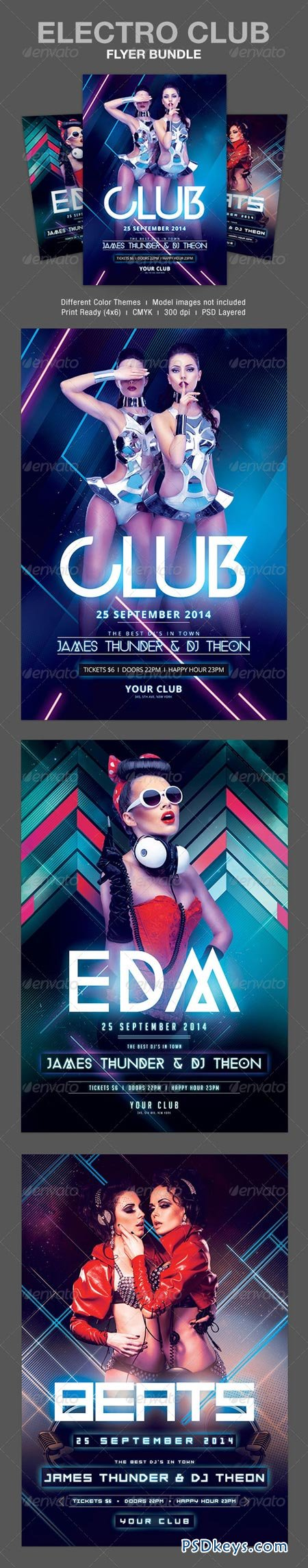 Electro Club Flyer Bundle 8616676