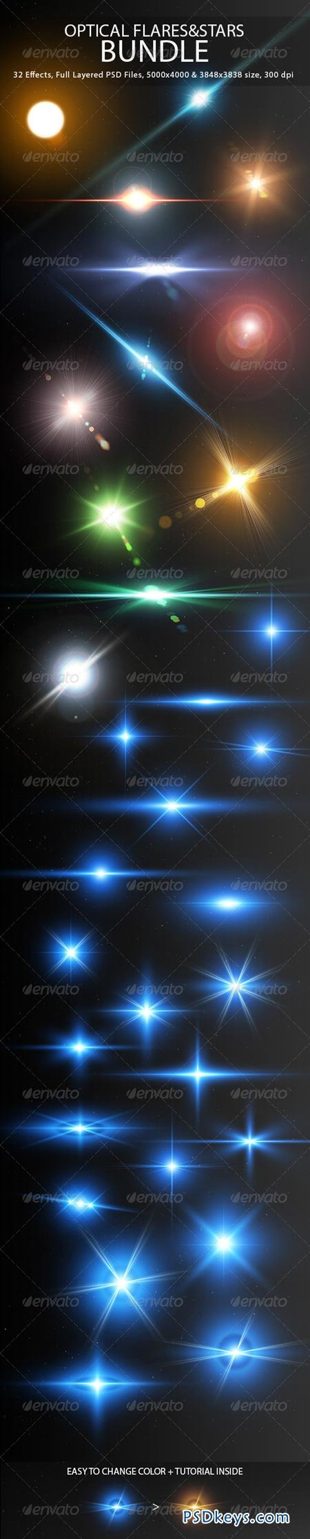 Optical Flares&Stars Bundle 7602672