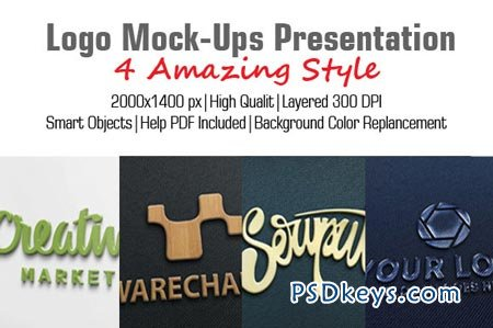 Logo Mock-Ups Presentation 18220 » Free Download Photoshop