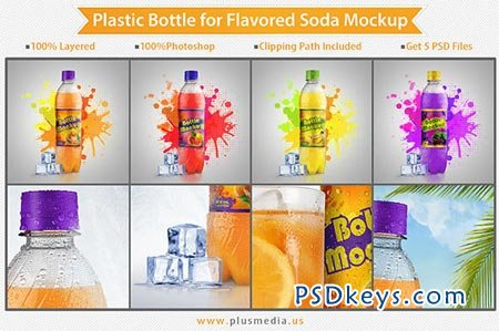 25% Off - Plastic Bottle Mockup 26386