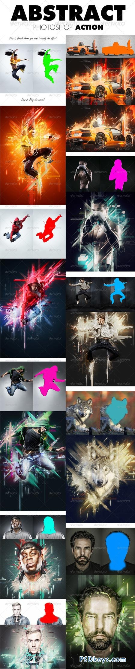 Abstract Photoshop Action 8677875