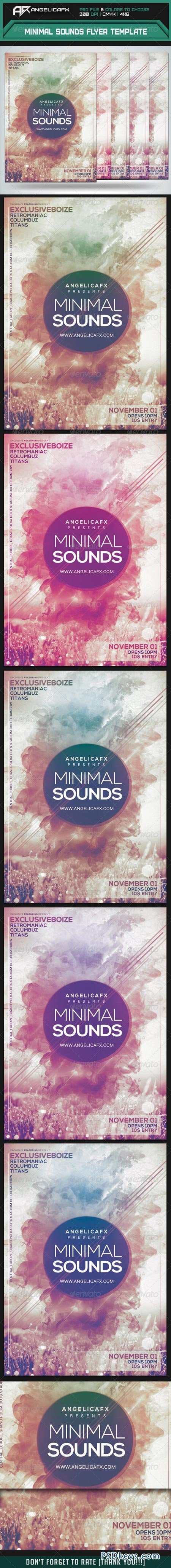 Minimal Sounds Flyer Template 8641969
