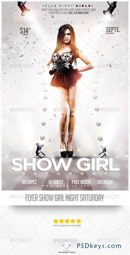 Flyer Show Night Girl Saturday 8392336