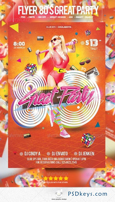Flyer 80's Great Party 7049289