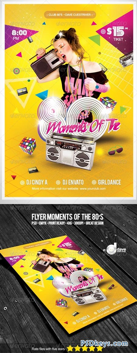 Flyer Moments Of The 80's 5276798