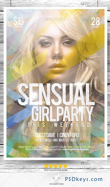 Flyer Sensual Girl Party This Wekkend 8513485