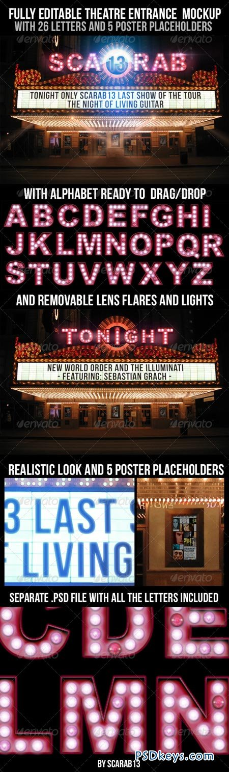 Realistic Looking Editable Theatre Mockup 6851306
