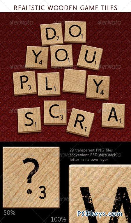 Alphabet Letters on Wooden Tiles 6200390