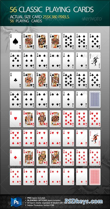 56 Classic Playing Cards 6635594