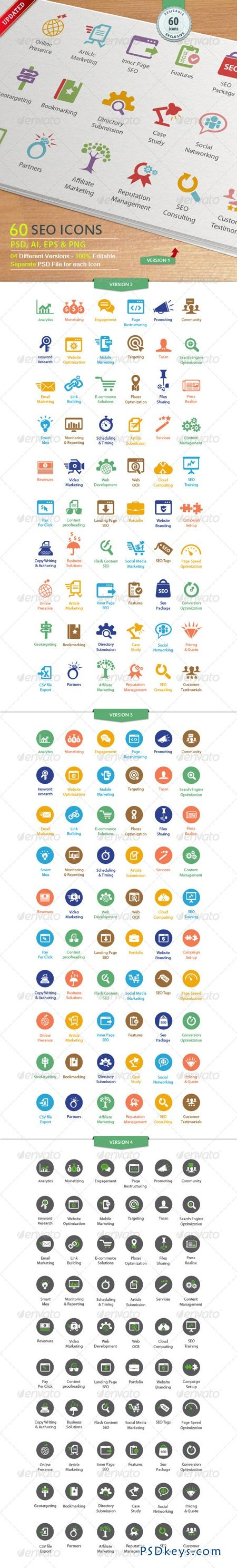SEO Services Icons 3337523
