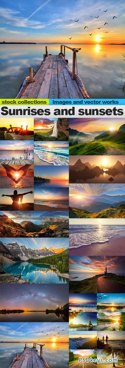 Sunrises and sunsets 25 x UHQ JPEG