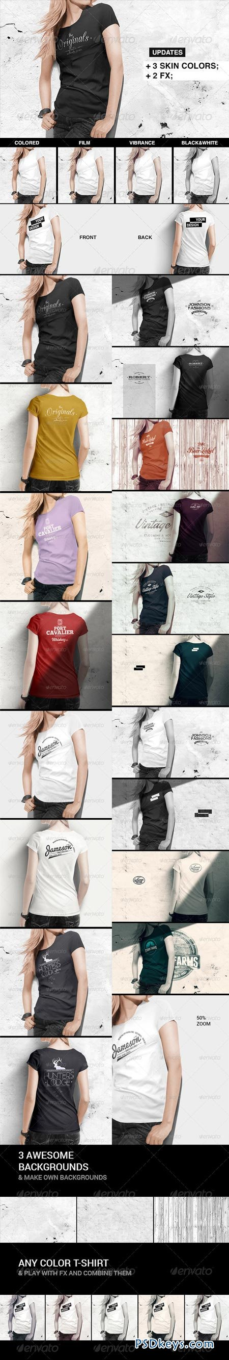Women T-Shirt Mock-Up 8504847