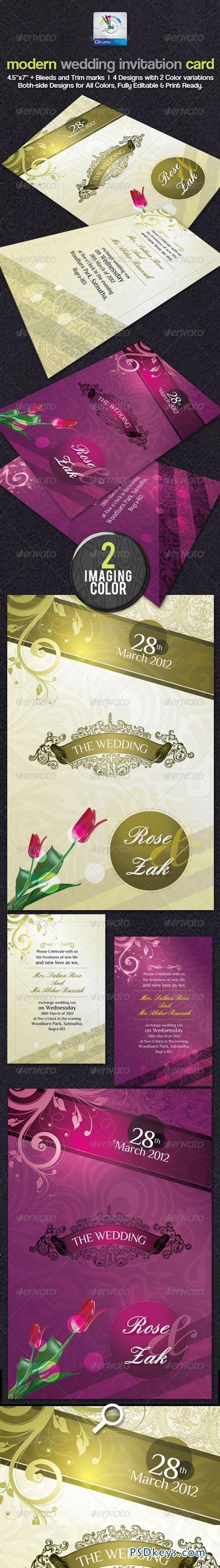 Modern Wedding Invitation Cards 2393750 » Free Download Photoshop ...