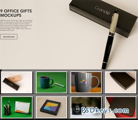 9 Office Gifts mockups