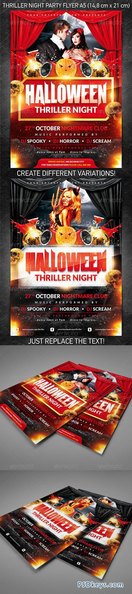 halloween thriller night party flyer 3160770 - Halloween Party Music Torrent